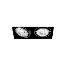 BASICSTERN TRIMLESS 2xGU10, oprawa wpuszczana, kolor czarny