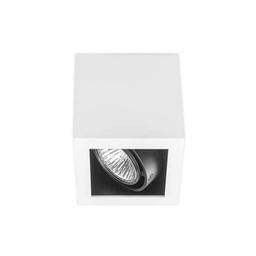 BASICSTERN SURFACE 1xGU10, oprawa natynkowa, kolor biało-czarny