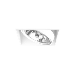 BASICSTERN TRIMLESS 1xG53, oprawa wpuszczana, kolor biały