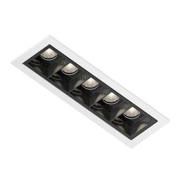 SHY GUY LED, oprawa wpuszczana, kolor biało-czarny
