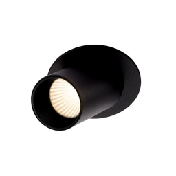 MR HIDE ROUND LED, oprawa wpuszczana, kolor czarny