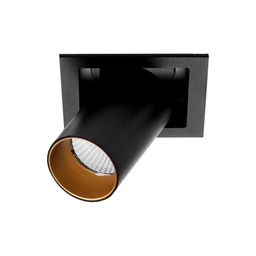 MR HIDE SQUARE LED, oprawa wpuszczana, kolor czarny